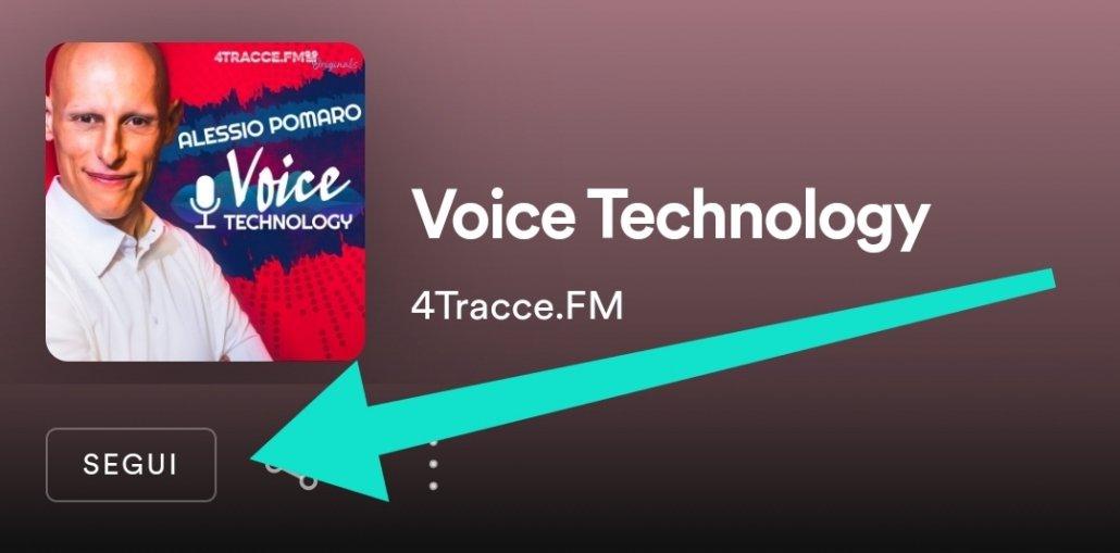 Come si segue Voice Technology Podcast su Spotify