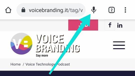 Il bottone microfono su Chrome Beta