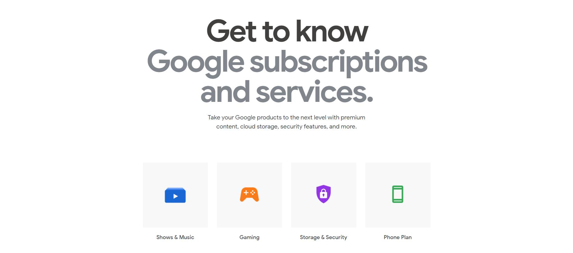 """Google Store: la nuova sezione """"Subscriptions"""""""