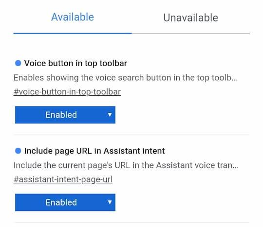 Le nuove opzioni vocali su Chrome Beta