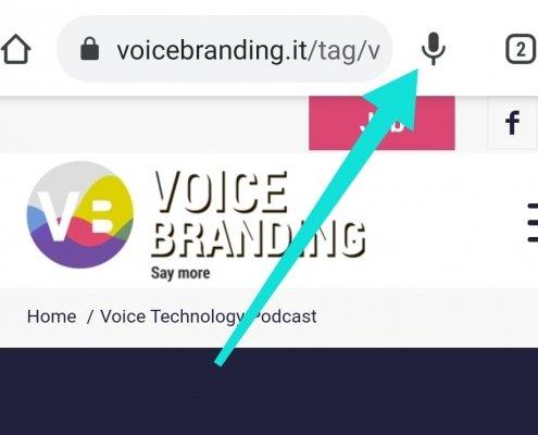 Voice Search su Google Chrome