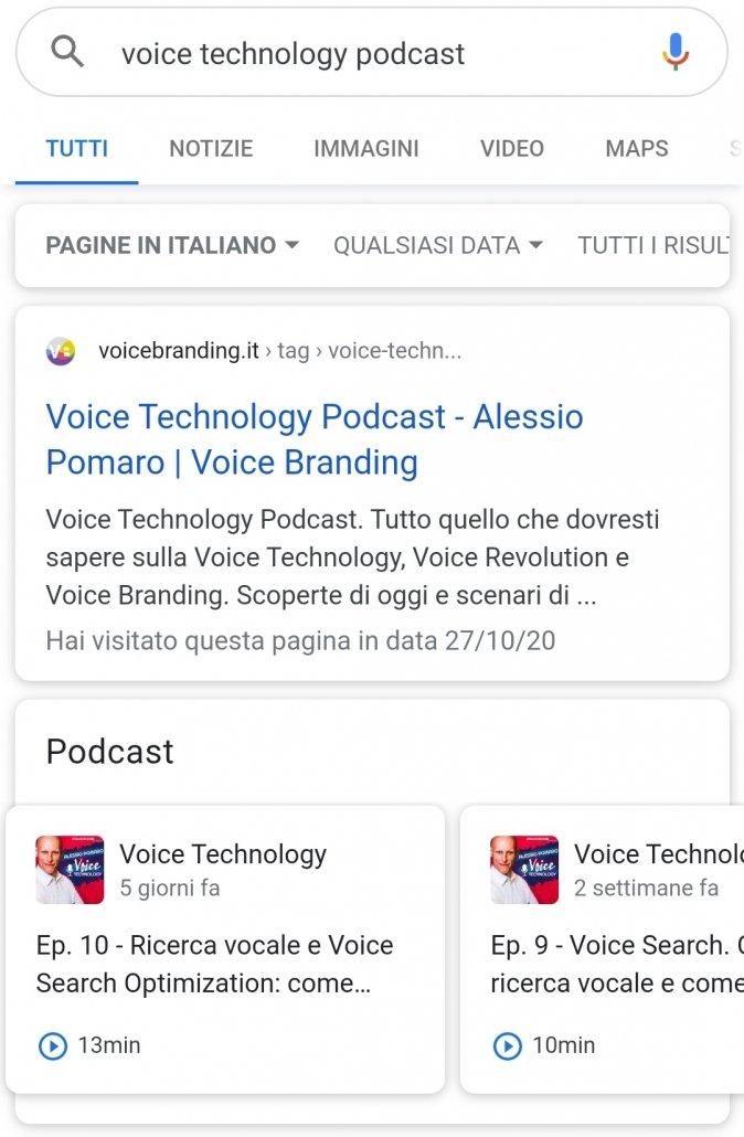 Voice Technology Podcast: un esempio di ricerca