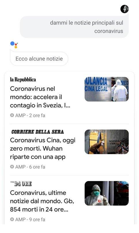Google Actions notizie