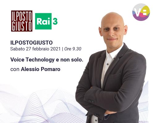 """Alessio Pomaro su """"Il Posto Giusto"""" di Rai 3"""