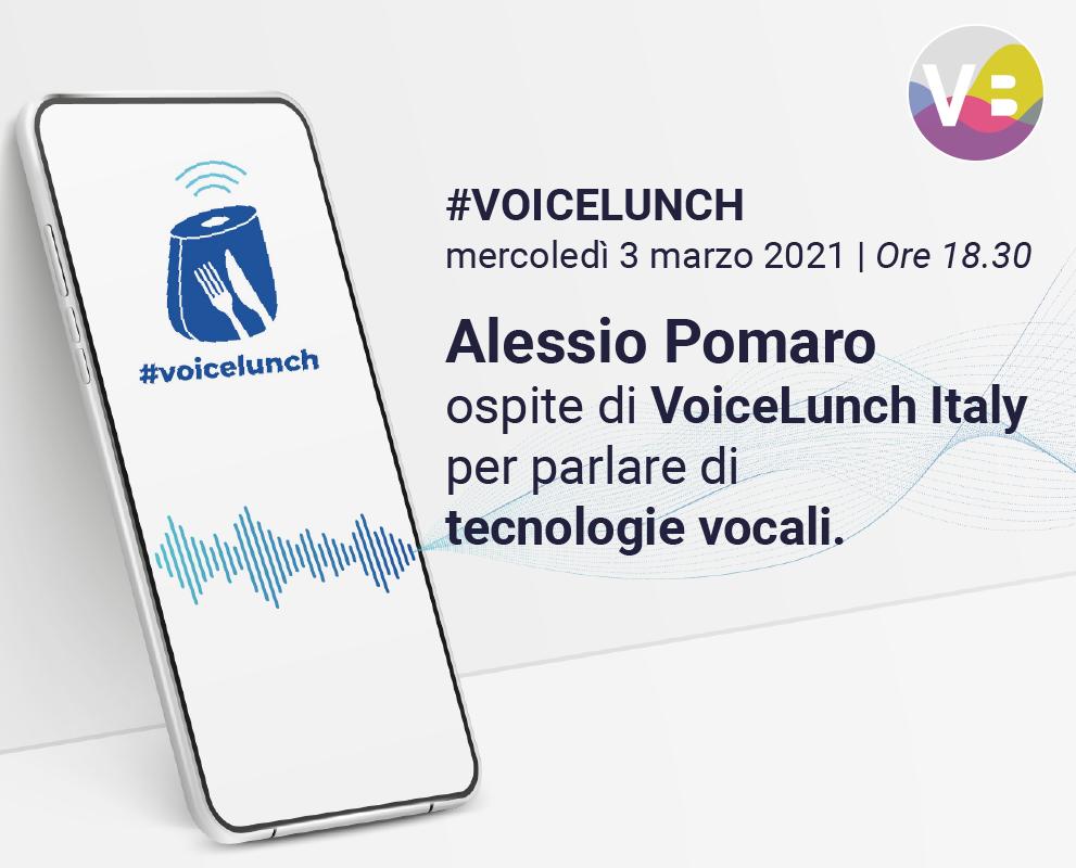 Alessio Pomaro al VoiceLunch Italy
