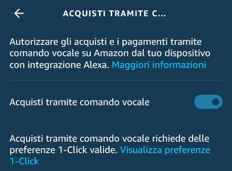 Acquisto tramite comando vocale su Alexa