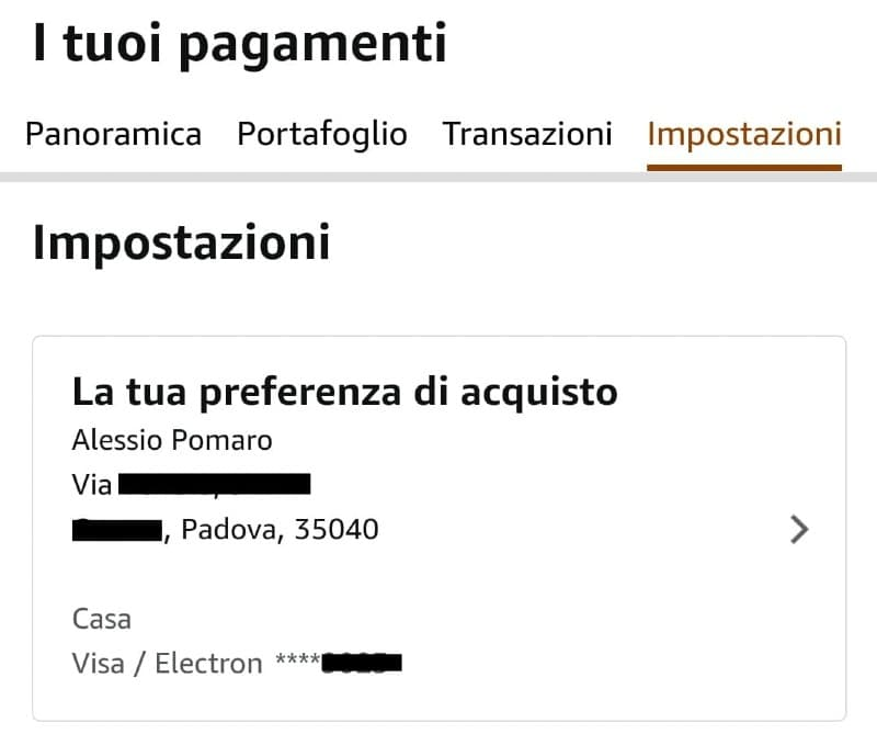 Preferenze 1-Click di Amazon